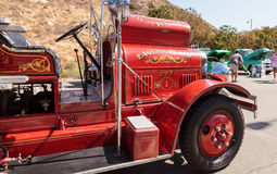 Red 1931 Seagrave Suburbanite 500 GPM Pumper fire engine. Laguna Beach, CA, USA - October 2, 2016: Red 1931 Seagrave Suburbanite 500 GPM Pumper fire engine owned Stock Images