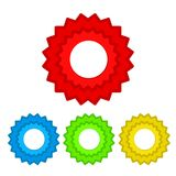 Red seal guarantee with ribbon, vector illustration. Eps 10 Royalty Free Stock Photography