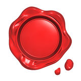 Red seal wax Royalty Free Stock Images