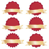 Red seals with gold banners Royalty Free Stock Photo