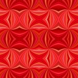 Red seamless abstract hypnotic curved ray burst stripe pattern background. Vector illustration stock illustration