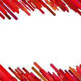 Red seamless abstract trendy gradient diagonal stripe pattern background. Vector border design stock illustration