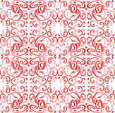 Red Seamless background with floral ornament with Royalty Free Stock Photography