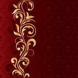 Red Seamless background with gold pattern Royalty Free Stock Photography