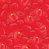 Red seamless background with red orchids Stock Images