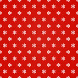 Red seamless background with snowflakes Royalty Free Stock Photo