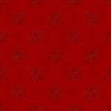 Red seamless background with snowflakes Stock Photos