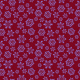 Red seamless background with snowflakes stock photography