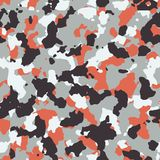 Red seamless camo. Pattern texture Royalty Free Stock Image
