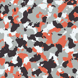 Red seamless  camo pattern Stock Image