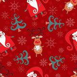 Red seamless christmas pattern 1. Holiday background Royalty Free Stock Images