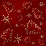 Red seamless Christmas pattern Royalty Free Stock Photos