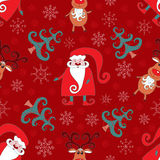 Red seamless christmas pattern 2. Holiday background Stock Photography