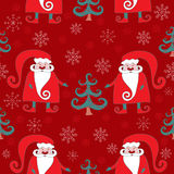 Red seamless christmas pattern 4. Vector background Royalty Free Stock Images