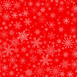 Red seamless Christmas pattern with different Stock Photography