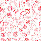Red Seamless christmas pattern vector Stock Image