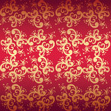 Red seamless floral background Stock Photography