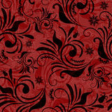 Red seamless floral pattern Stock Photography