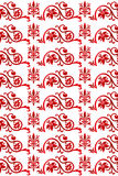 Red seamless floral pattern. Red floral vintage pattern - seamless and on white royalty free illustration