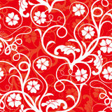 Red seamless flower background Royalty Free Stock Images