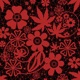 Red seamless lace pattern Royalty Free Stock Photography