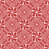 Red seamless ornament Stock Images