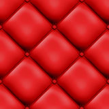 Red Seamless Padded Design. An abstract 3D seamless background of bright red geometric designs resembling vinyl or imitation padded leather upholstery Stock Photography