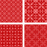 Red seamless pattern background set. Red seamless abstract pattern design background set Royalty Free Stock Photography