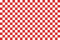 Red seamless pattern chessboard Stock Photo