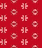 Red seamless pattern with flowers Royalty Free Stock Image