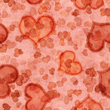 Red seamless pattern with hearts Royalty Free Stock Photo