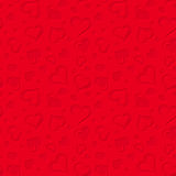 Red seamless pattern with hearts. Vector illustration. Royalty Free Stock Images