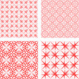 Red seamless pattern set Royalty Free Stock Photography