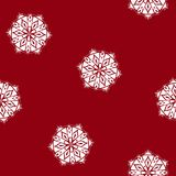 Red Seamless Pattern with a Snowflake. Seamless Pattern ,Snowflake on a Red Background, Christmas Decoration, Vector Illustration Stock Photos
