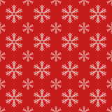 Red seamless snowflake pattern. Christmas vector background.   Royalty Free Stock Images