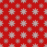 Red seamless snowflake pattern eps 10 Royalty Free Stock Images