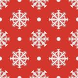Red seamless snowflake pattern. Vector illustratiom EPS10 Royalty Free Stock Image