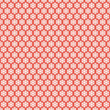 Red seamless snowflakes pattern. Vector snow Stock Photo