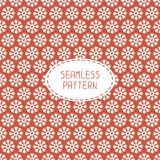 Red seamless snowflakes pattern. Vector snow Royalty Free Stock Photography