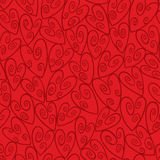 Red Seamless Swirl Heart Pattern Royalty Free Stock Photos