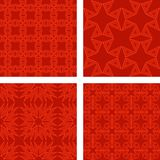 Red seamless triangle pattern background set Royalty Free Stock Photos