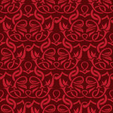 Red seamless wallpaper Royalty Free Stock Image
