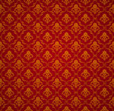 Red Seamless wallpaper pattern. Computer illustration, isolated on the white Royalty Free Stock Images
