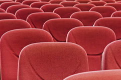 Red seat. Stadium seat with no people Royalty Free Stock Photo