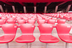 Red seat in National Stadium,Beijing,China on 22 May 2013. Sight seeing along the day at National Stadium,Beijing,China Royalty Free Stock Images
