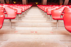 Red seat in National Stadium,Beijing,China on 22 May 2013. Sight seeing along the day at National Stadium,Beijing,China Stock Image