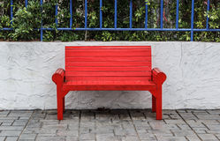 Red seat in the outdoors Royalty Free Stock Image