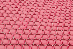 Red seat in sport stadium Royalty Free Stock Photography