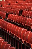 Red Seating. Rows of red seats at Old Trafford, the Theatre of Dreams Royalty Free Stock Images