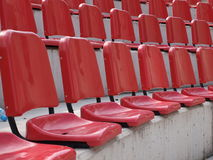 Red seats royalty free stock photography